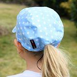 Dívčí i chlapecká letní kšiltovka bílé hvězdy na světle modré ObleCzech