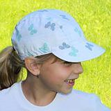 Letní bavlněná bílá čepice pro dívky s motýlky ObleCzech