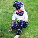 Dívčí legíny bavlněné barevné puntíky ObleCzech
