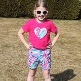 Pyžamo letní barevné čáry