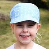 Letní dětská kšiltovka bavlněná světle modrá s hvězdami ObleCzech
