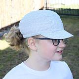 Dívčí letní bavlněná kšiltovka kytičky na bílé ObleCzech