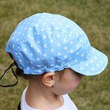 Dětská plátěná kšiltovka s měkkým kšiltem hvězdičky na modré ObleCzech
